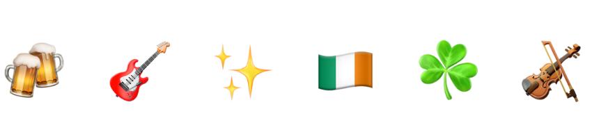 St Patrick's Day emojis